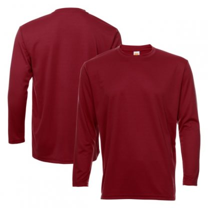 APP0144 Quick Dry Round Neck Long Sleeve T-shirt - Maroon