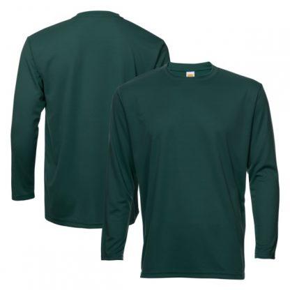 APP0144 Quick Dry Round Neck Long Sleeve T-shirt - Dark Green