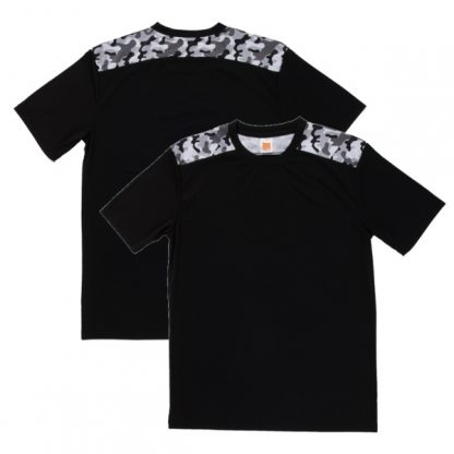 APP0145 Quick Dry Sublimation Printing Round Neck T-shirt - Black