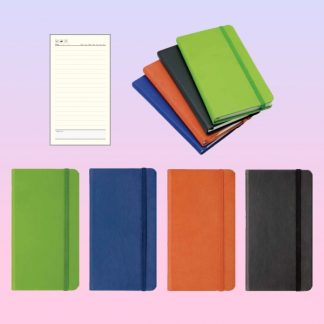 ORN0119 Moto Note Book with Rubber Band – A6 PU Cover