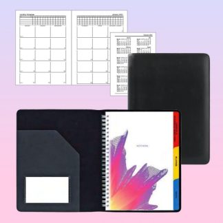 ORN0130 Wire-O Note Book Black PU Cover