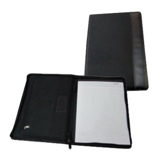 ORN0194 A4 Size Zipper Portfolio with Notepad