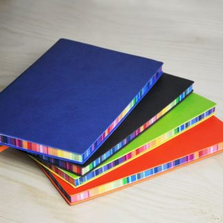 ORN0196 A5 Notebook with Rainbow Colour Side