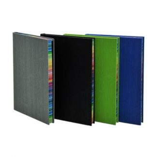 ORN0201 A5 Hard Cover Notebook with Rainbow Side