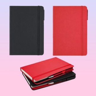 ORN0245 Moto Note Book with Pen – A5 Textured PU Cover