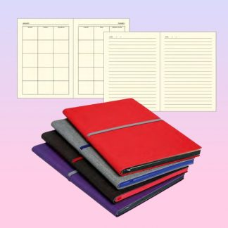 ORN0248 REVEKA Slim A5 Note Book with Colour Rubber Band