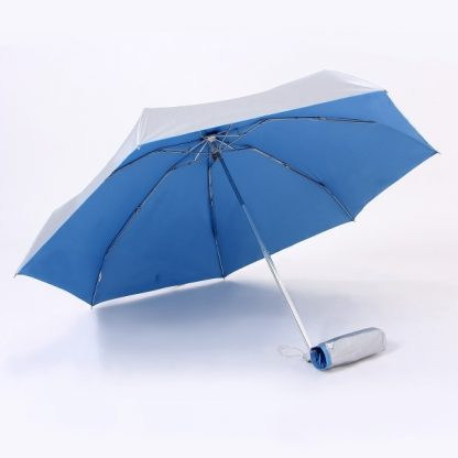 UMB0059 - 21″ UV Lightweight Foldable Umbrella - Blue