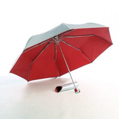 UMB0068 – 21″ 3 Fold Windproof UV Umbrella - Red