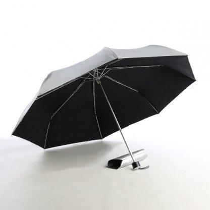 UMB0068 – 21″ 3 Fold Windproof UV Umbrella - Black