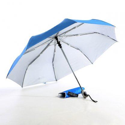"UMB0069 - 21"" Auto Open and Close Foldable UV Umbrella - Light Blue"