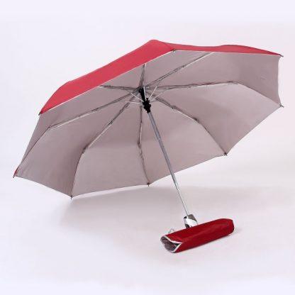 "UMB0069 - 21"" Auto Open and Close Foldable UV Umbrella - Red"