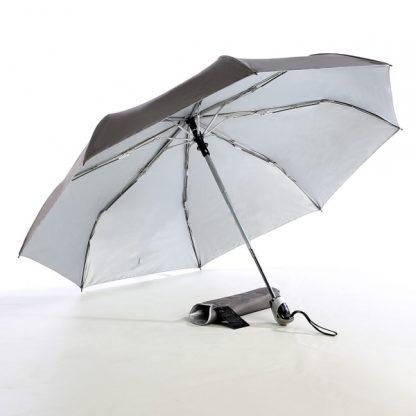 "UMB0069 - 21"" Auto Open and Close Foldable UV Umbrella - Grey"