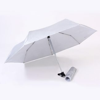 UMB0096 – 21″ Auto Open Foldable UV Umbrella - Light Grey