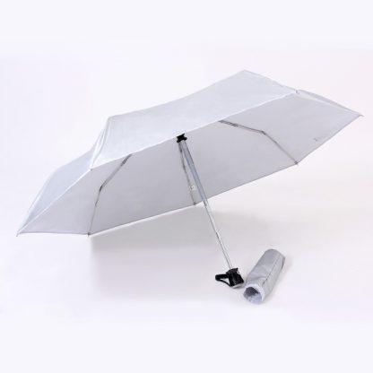 UMB0096 – 21″ Auto Open Foldable UV Umbrella - Light Grey