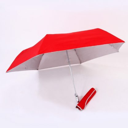 UMB0097 – 21″ Auto Open and Close Foldable UV Umbrella - Red