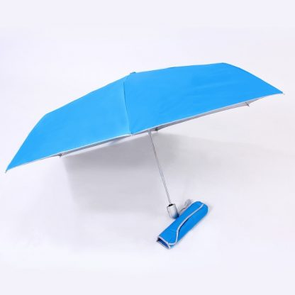 UMB0097 – 21″ Auto Open and Close Foldable UV Umbrella - Light Blue