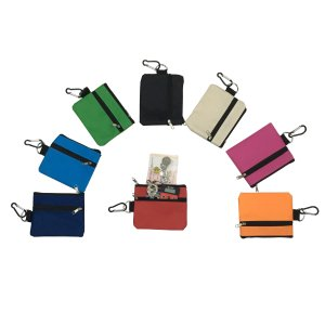 BG0756 Pouch with Zipper & Carabiner