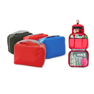 BG0825 3-Folds Toiletry Pouch with 3-Zip Compartments