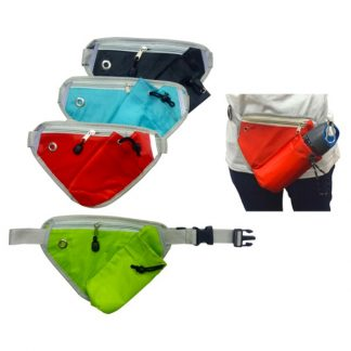 BG0845 Triangular Waist Pouch with Zip & Bottle Compartment