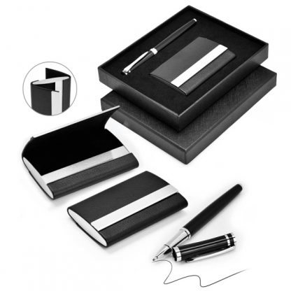 GFT0105 Card Holder & Metal Pen Set