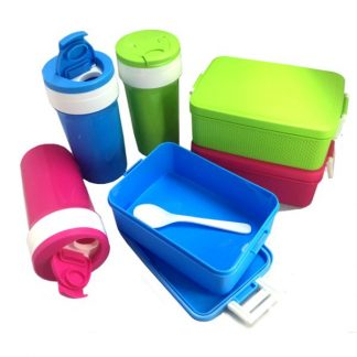 LSP0508 Lunch Box & Tumbler Set with Spoon