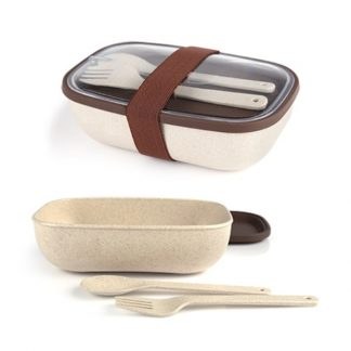 LSP0539 Lunch Box with Fork and Spoon