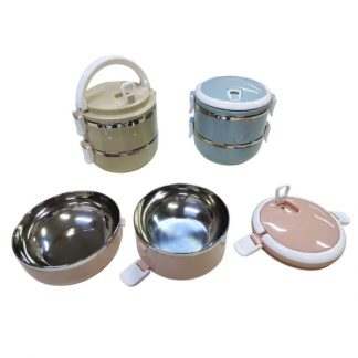 LSP0545 Two Tier Stainless Steel Lunch Box