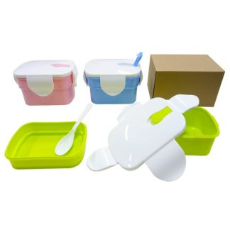 LSP0546 Two Tier Rectangular Lunch Box with Spoon