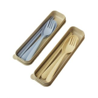 LSP0567 Wheat Chopstick with Fork & Spoon Set
