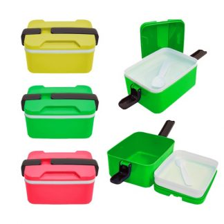 LSP0569 Two Tier Lunch Box with Spoon