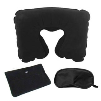 LSP0579 Travel Set with Pillow + Eye Mask
