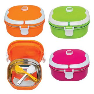 LSP0586 Stainless Steel 1 Tier Lunch Box with Spoon
