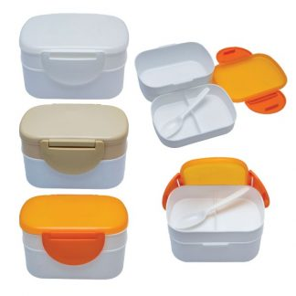 LSP0589 Two Tier Lunch Box with Spoon