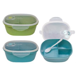 LSP0594 Wheat Fiber Lunch Box with Spoon