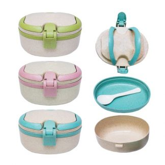 LSP0598 Wheat Fiber Lunch Box with Spoon