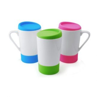 MGS0386 Ceramic Mug with Lid - 450ml