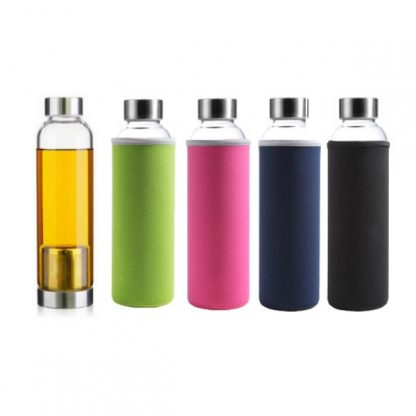 MGS0388 Glass Bottle with Tea Brewer - 380ml