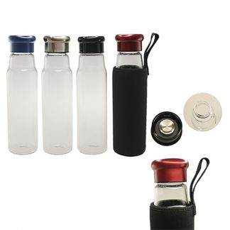 MGS0419 Glass Bottle with Black Neoprene Pouch - 550ml
