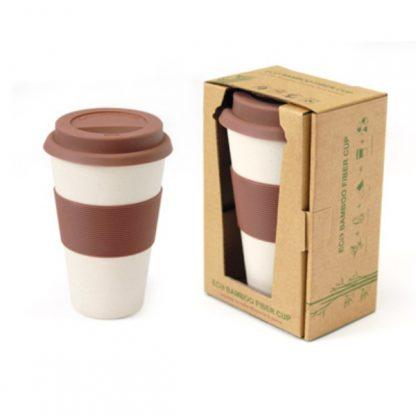MGS0509 Bamboo Fibre Mug with Lid & Sleeve - 350ml