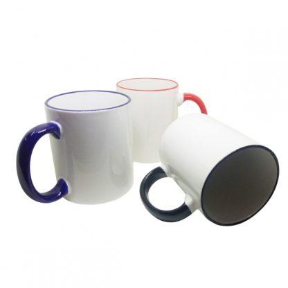 MGS0536 2-Tone Transfer White Mug with Box - 12oz