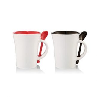 MGS0537 Ceramic Mug with Spoon - 10oz