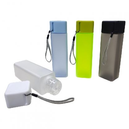 MGS0567 Square Frosted AS Water Bottle (BPA Free) - 450ml
