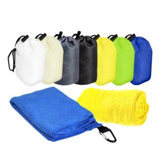 TWL0047 Microfibre Sports Towel with Carabiner Hook