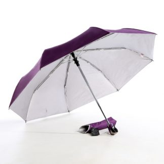UMB0098 – 21″ Auto Open and Close Foldable UV Umbrella - Purple