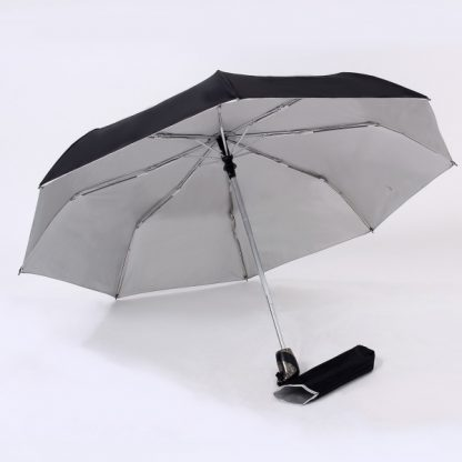 UMB0098 – 21″ Auto Open and Close Foldable UV Umbrella - Black