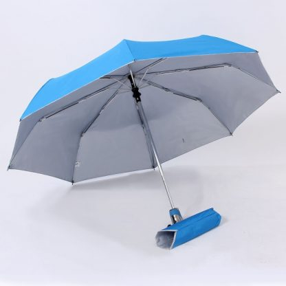 UMB0098 – 21″ Auto Open and Close Foldable UV Umbrella - Light Blue