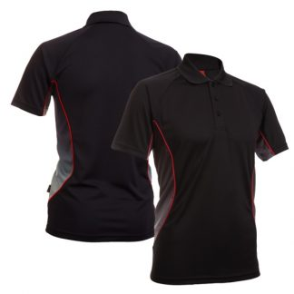 APP0082 Quick Dry Sublimation Printing Polo T-shirt - Black/Black-White (P/Red)