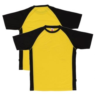 APP0093 Quick Dry Raglan T-shirt - Yellow/Black