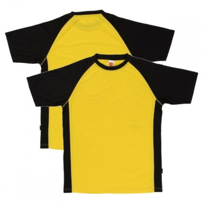 APP0093 Quick Dry Raglan T-shirt - Yellow/Black
