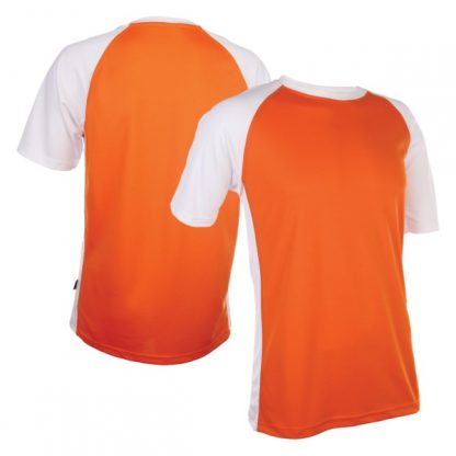 APP0093 Quick Dry Raglan T-shirt - Orange/White